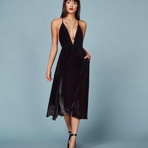 Reformation Coppola Velvet Midi Dress